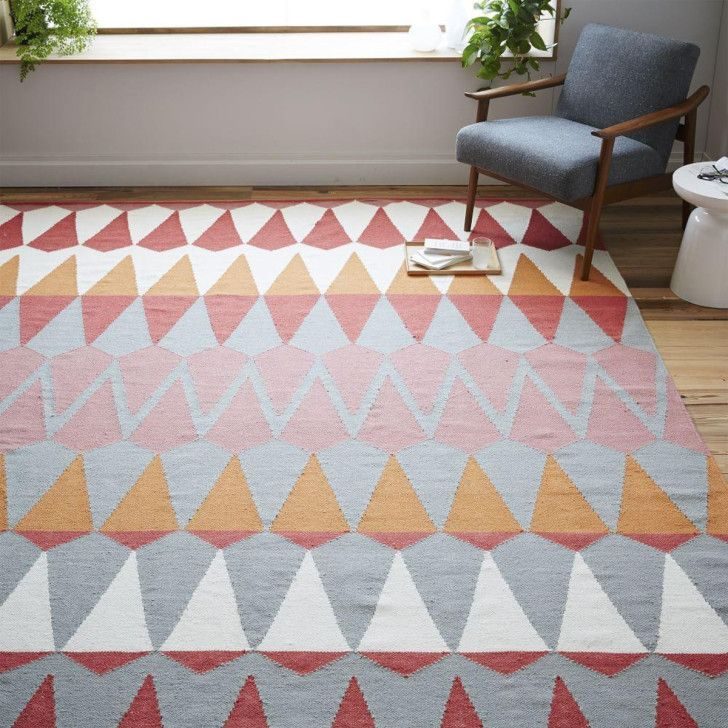 Captivating Impressive West Elm Margo Selby Zigzag Stripe Kilim Rug Design Offers Hand  Loomed With A Colorful