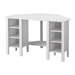 IKEA - BRUSALI, Hoekbureau, , De opberger kan door de verstelbare planken worden aangepast aan de opbergbehoefte.