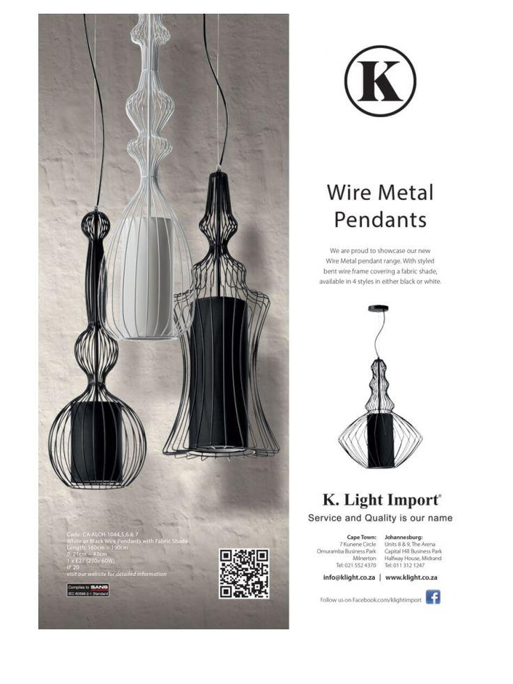 <p><b>Wire Metal Pendants</b><br />  Garden & Home<br /> House & Leisure<br /> Conde Naste House & Garden<br /> Habitat</p>
