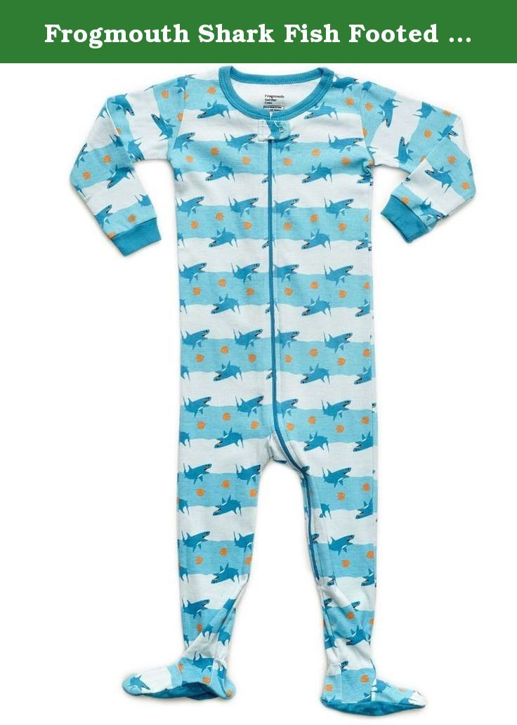 Frogmouth Shark Fish Footed Pajama 18-24 Months. Keep your little ones footsies warm in this full zippered footed sleeper featuring a fish design.