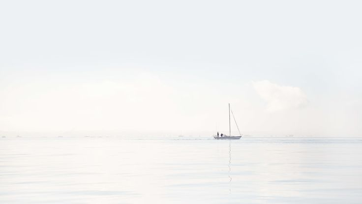 Sail Boat, Auckland Harbor, Our Land, Dan Max, Water, Mist, Quite, Soft, Calming.