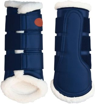 Love these navy dressage schooling boots from HARRY'S HORSE