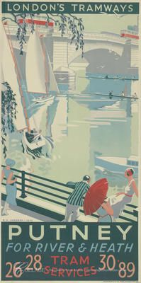 LCC Tramways Posters - COLLAGE - The London Picture Archive