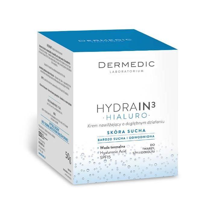 Dermedic Hydrain 3 Krem nawilżający o dogłębnym działaniu SPF15 50 g - od 23,25 zł, porównanie cen w 29 sklepach. Zobacz inne Dermokosmetyki, najtańsze i najlepsze oferty, opinie.
