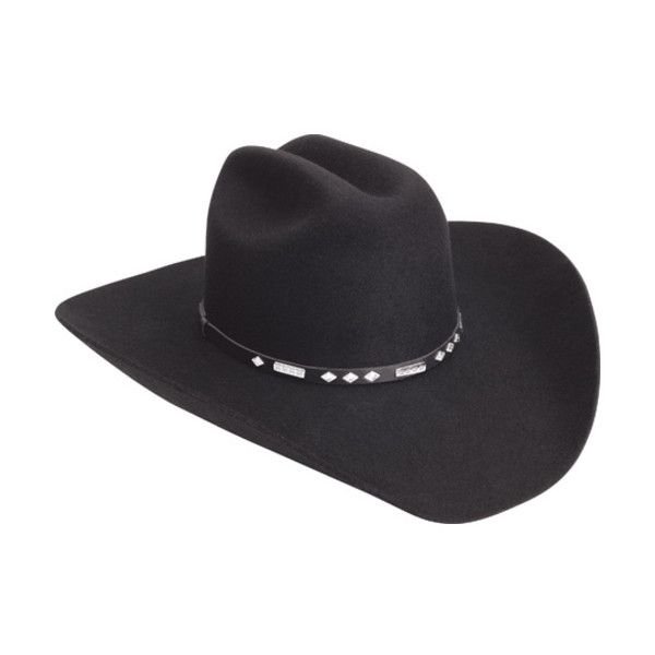 Men's Silverado Midnight (250 BRL) ❤ liked on Polyvore featuring men's fashion, men's accessories, men's hats, black, cowboy hats, mens cowboy hats, mens western hats and mens hats
