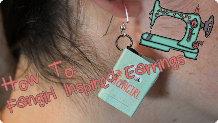 How To Make Book Earrings   Inspired by Rainbow Rowell's Fangirl