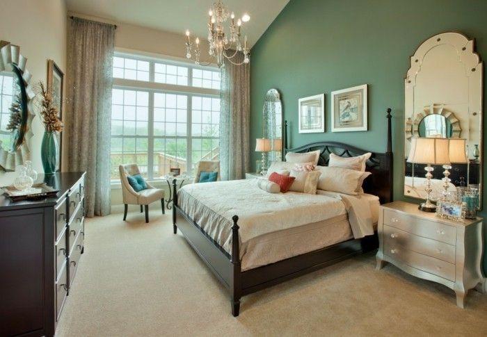chambre-vintage-idée-déco-vintage-idée-papier-peint-chambre-adulte ...