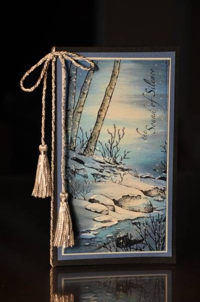 Winter Scene 1 by kitty1wu - Cards and Paper Crafts at Splitcoaststampers