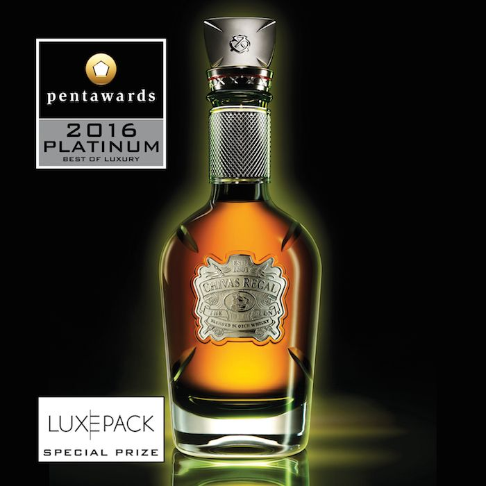 Luxury Category: Coley Porter Bell (UK) for the superb bottle 'The Icon', Chivas Regal (Pernod Ricard Group)