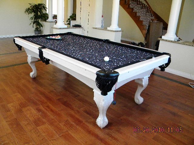 Beau Black And White Pool Table