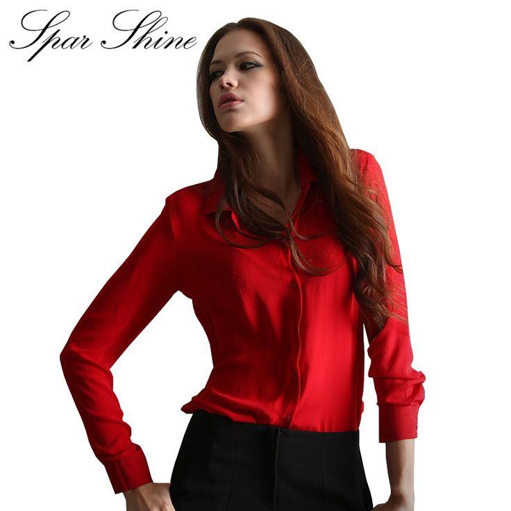 Blusas Femininas 2016 Women Shirt Chiffon Tops Elegant Ladies Formal Office Blouse 5 Colors Work Wear Plus Size XXL