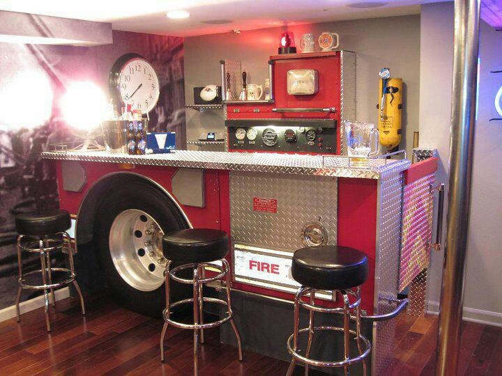 Fire Truck Themed Bar If I Ever Build A Man Cave This Is