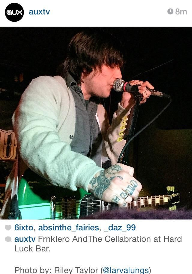 frnkiero andthe cellabration, Hard Luck in Toronto, 2/25/2015.