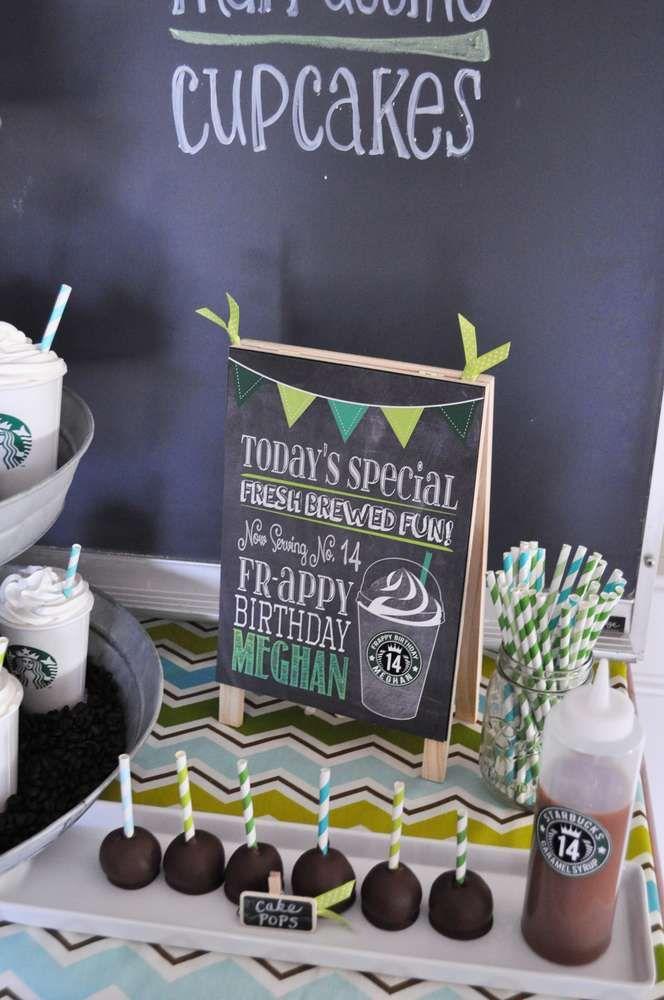 Starbucks Birthday Party Ideas   Photo 4 of 10   Catch My Party