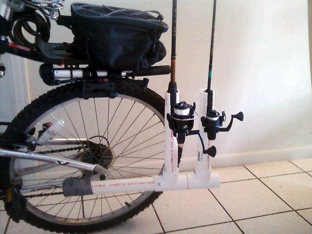 fishing rod rack bike fishing rod holder flickr