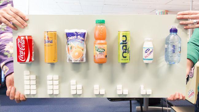 Maak je leerlingen met dit 'suikerbord' bewust van de hoeveelheid suiker in frisdrank