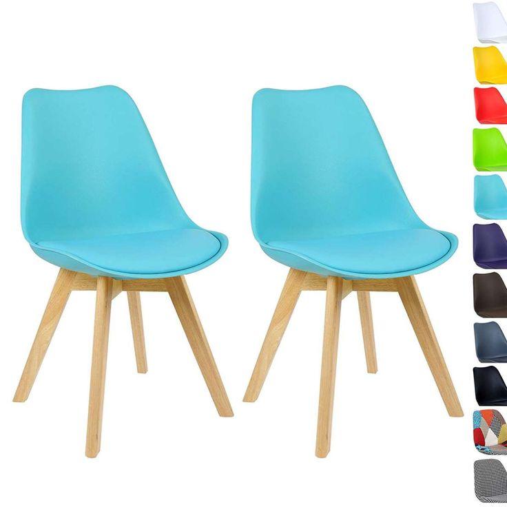 Esszimmerstühle Weiß 2er Set Holz