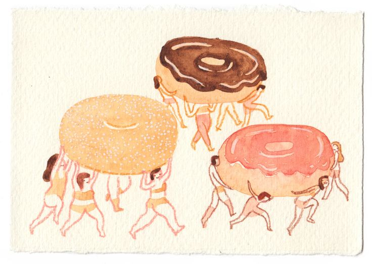 Illustrations by carb obsessed artist Monica Ramos 'I'm hungry.' :)