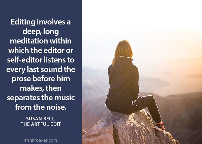 separates the music from the noise - Susan Bell