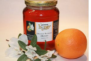 Orange blossom #honey has the most lovely aroma as well as flavour. When you inhale its perfume you would swear you were sitting in an orange grove. You can understand why honey bees find the nectar irresistible. Orange blossom honey is great in a fruit salad where it tames the slight tartness of pineapple and prevents browning of apples and bananas.
