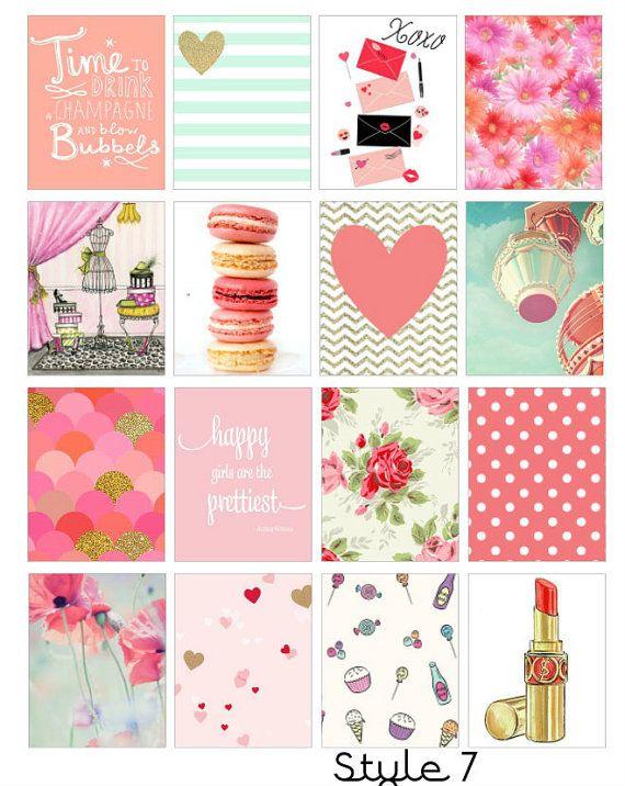 Mint Love Stikers- For Erin Condren