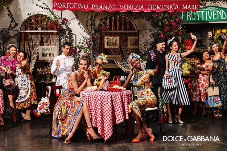 Dolce & Gabbana's spring 2016 campaign features a diverse cast enjoying the Italian lifestyle The Dolce & Gabbana woman can be seen taking selfies while sitting at a cafe or flaunting her new handbag while shopping for fruit. --- #imageconsultant #personalshopper #silkgiftmilan