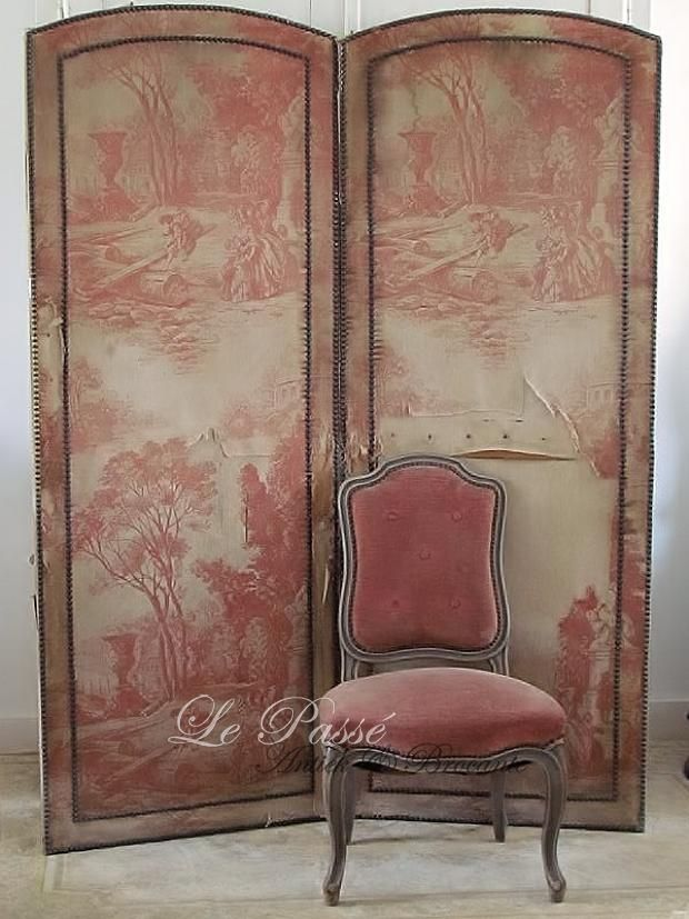 Antiek kamerscherm met 'toile de jouy' / antique folding screen with 'Toile  de Jouy' SOLD - 230 Best Screens And Room Dividers Images On Pinterest Room