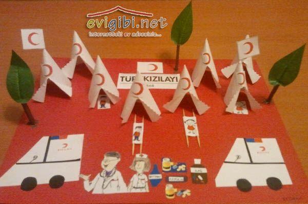 Okul öncesi eğitim - Kızılay etkinliği