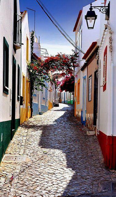 Beautiful picture of a small fishing village Ferragudo, Portimao, Portugal