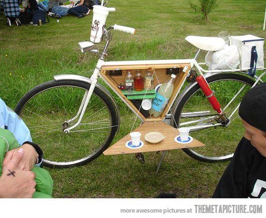 Mesa en bici