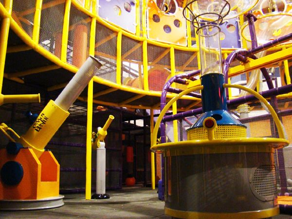 Ballistic Ball Shooter Arena by Iplayco. Great to add a ball shooting arena to your indoor playground design.