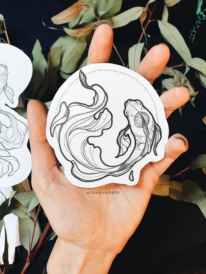 Draw koi fish //@hannahelmix