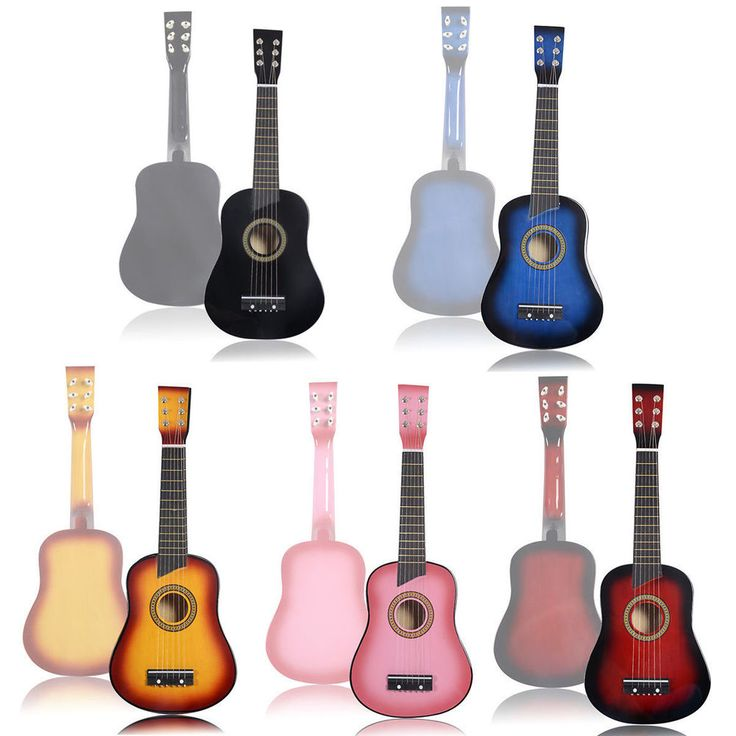 """25"""" Beginners Kids Acoustic Guitar 6 String with Pick Children Gift, Multicolors #Unbranded"""