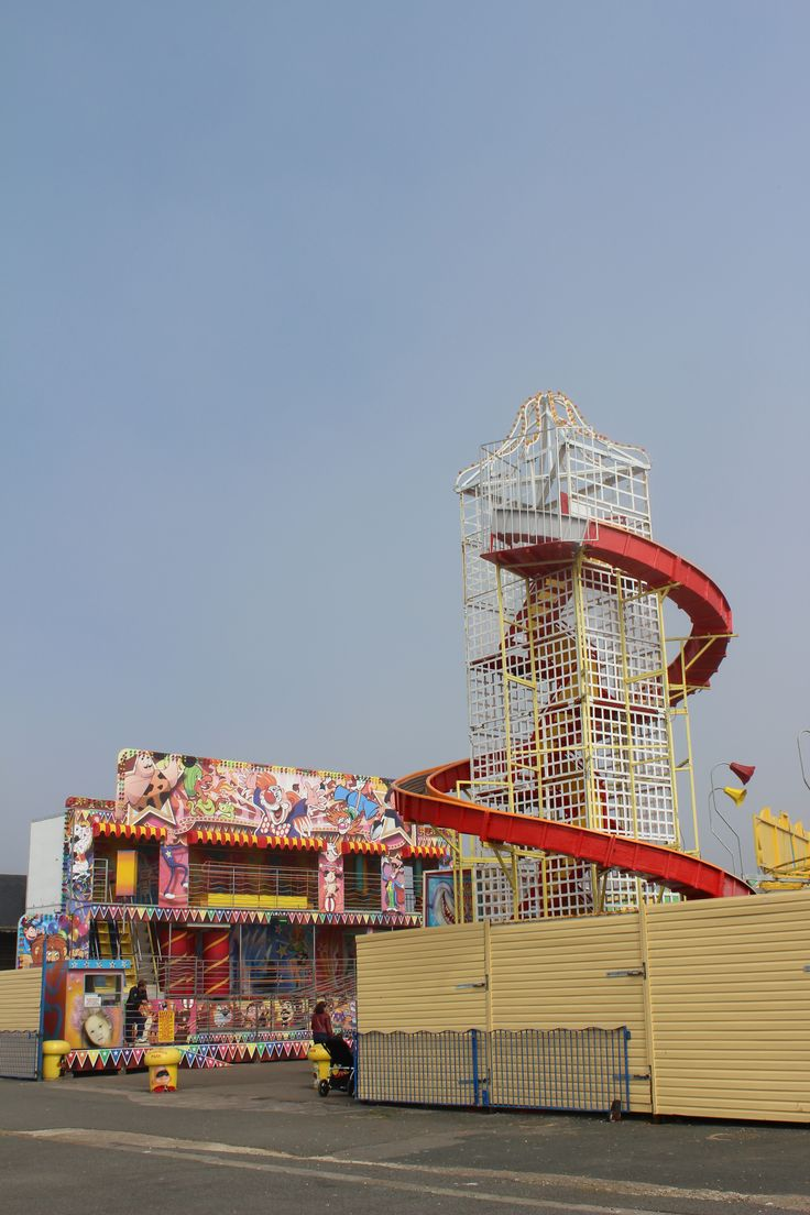 A helter skelter, taken by blind photographer Johnny English