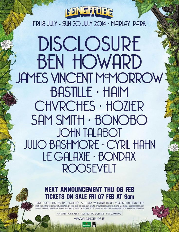 Line-up   Longitude Festival 2014