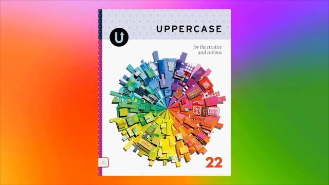 http://shop.uppercasemagazine.com/collections/subscribe  Issue 22 of UPPERCASE magazine is inspired by colour. With such a broad topic, I had to find a way to tackle it within one issue.  Like many graphic designers, I thrive on constraints. So I gave myself some rules to follow: 1) The issue would be organized Roy-G-Biv-style, going from red at the front of the book through to violet at the last page. 2) The arrangement of the content and structure of the magazine would stay the same as...