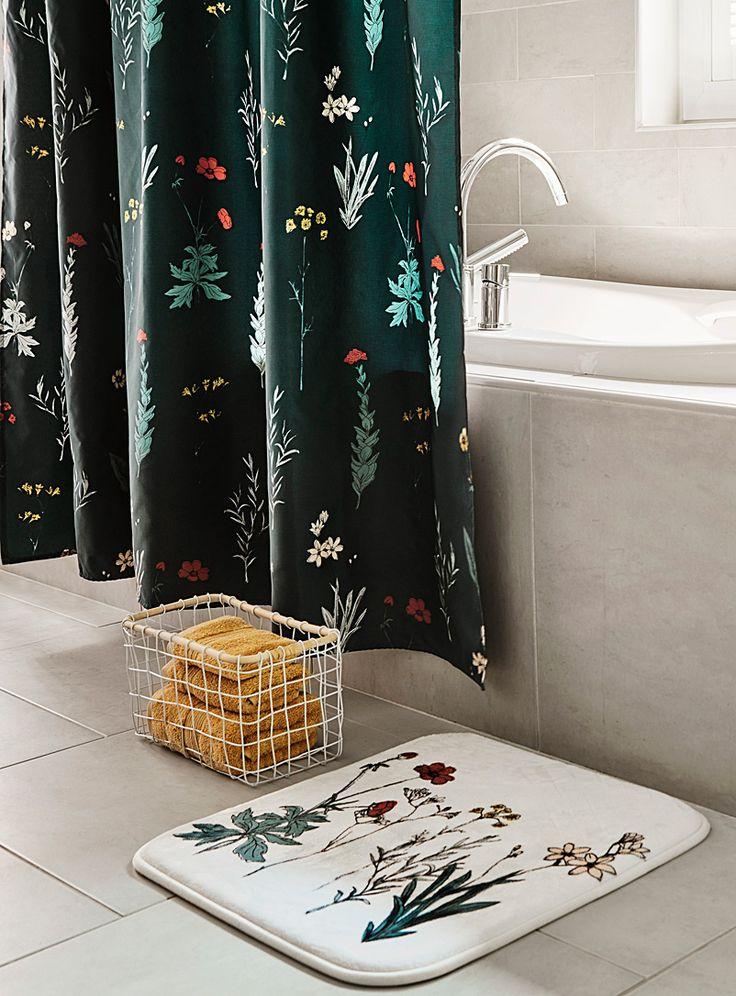 Mystical floral shower curtain | Simons Maison | Shop Fabric Shower Curtains Online in Canada | Simons