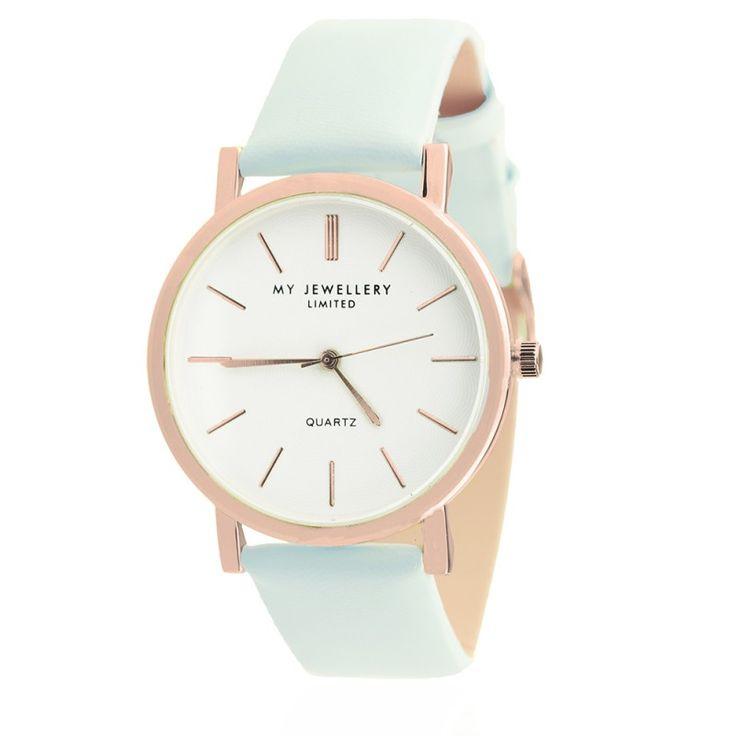 My Jewellery limited watch pastel blue | Available via www.my-jewellery.com | #pastel #new #watch #blue #myjewellery