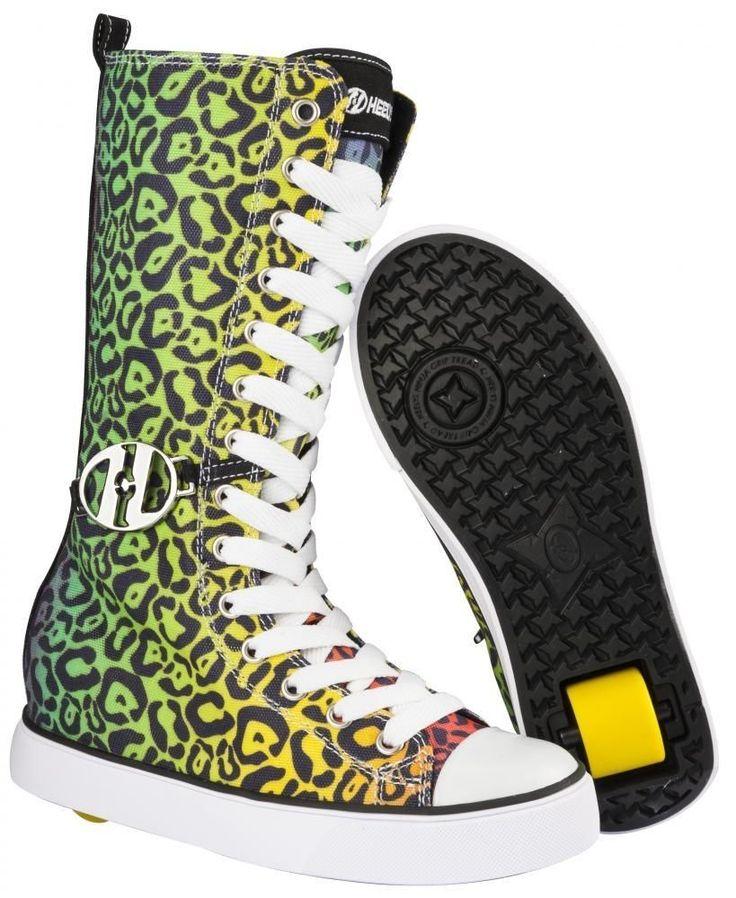 Heelys Fling Junior Size Girls Lace Heely Wheel Roller Shoe - Rainbow Leopard | Clothes, Shoes & Accessories, Kids' Clothes, Shoes & Accs., Girls' Shoes | eBay!