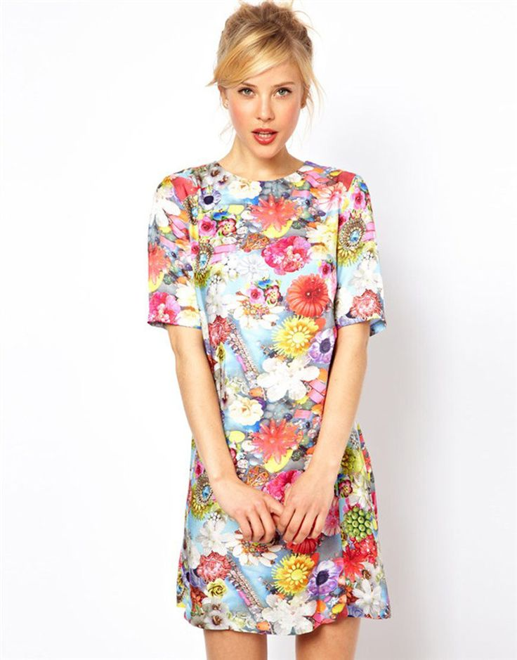 Psychedelic Floral Dress