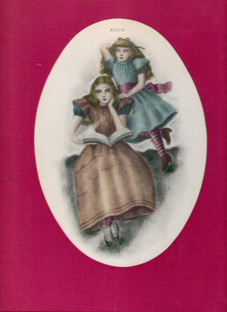 Alice in Wonderland. Year: #1974. Country: #Italy. Illustrations: Kuniyoshi Kaneko. Additional Info: Olivette Publishing English printed edition. #book #cover #art