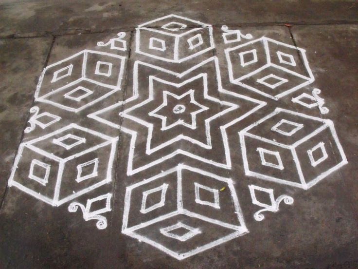 Simple Kolam design..........