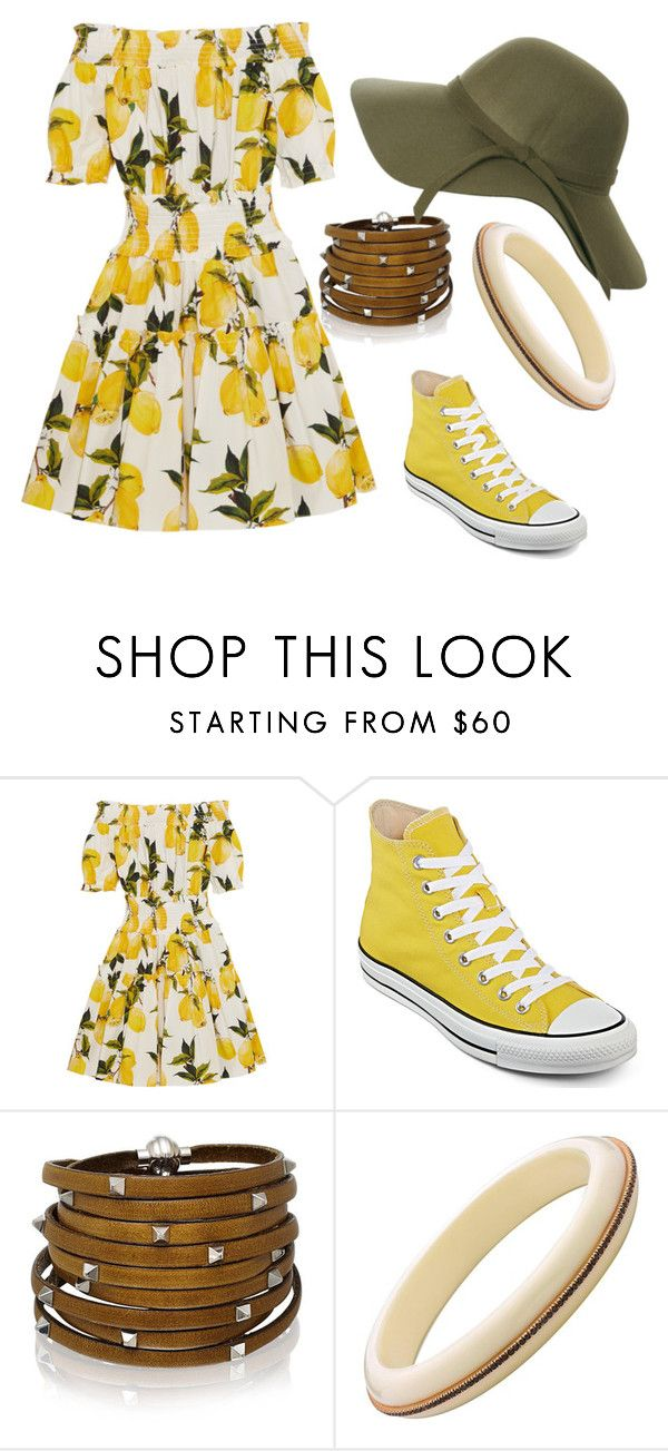 """""""#vintagechic 60's spring"""" by chooseyourstyle321 on Polyvore featuring Dolce&Gabbana, Converse, Sif Jakobs Jewellery, vintage, women's clothing, women's fashion, women, female, woman and misses"""