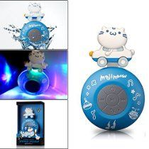 Wireless Bluetooth Speaker, Orange Bolt® X Maji Meow Limited Edition Water Proof Resistant Shower Speaker Handsfree Portable Speakerphone with Built-in Mic Compatible with iPhone iPad Android  http://astore.amazon.com/actionconsume-20/detail/B01ADRB0I0
