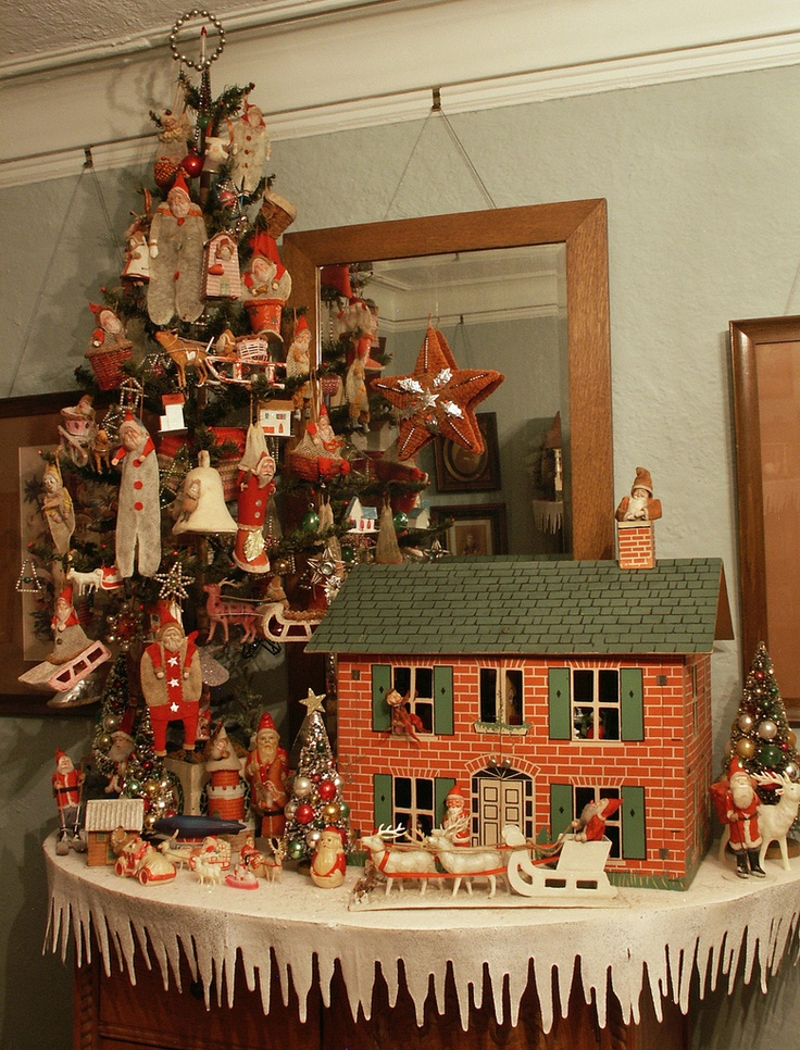 78 best images about a vintage christmas on pinterest for Antique christmas tree decoration
