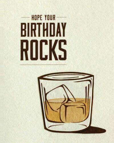 Birthday on the rocks, whiskey