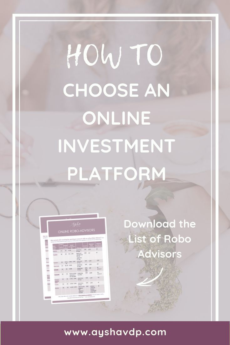 How To Choose An Online Investment Platform