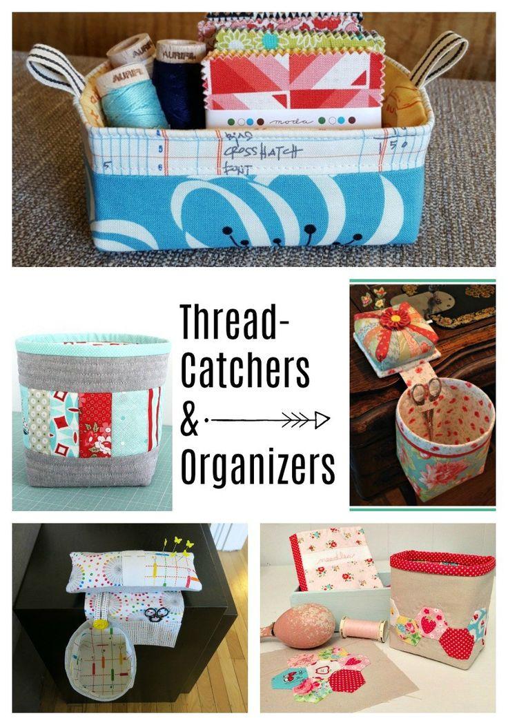 Thread Catcher, pincushion and sewing organizer tutorials