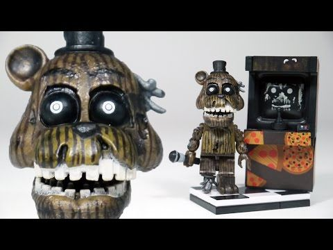 FNAF Phantom Freddy with Arcade Cabinet | McFarlane Toys LEGO compatible FNAF set review - YouTube