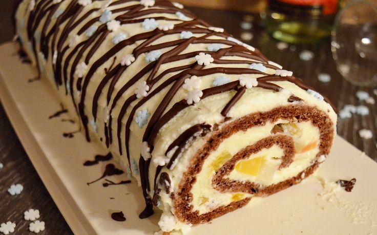 Reteta culinara Desert rulada diplomat din categoria Dulciuri. Cum sa faci Desert rulada diplomat